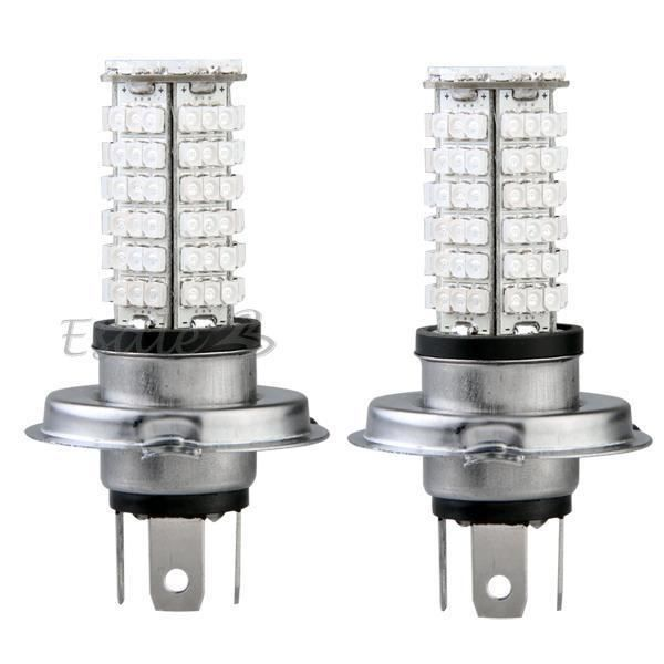 carchet 2 x h4 ampoule lampe 3528 smd 102 leds blue 12 24v. Black Bedroom Furniture Sets. Home Design Ideas