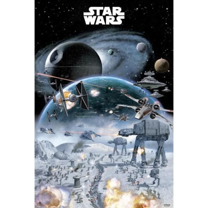 affiches star wars guerre achat vente affiche cdiscount. Black Bedroom Furniture Sets. Home Design Ideas