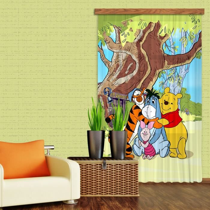 rideaux winnie l 39 ourson c lin disney standard 140x245 cm. Black Bedroom Furniture Sets. Home Design Ideas