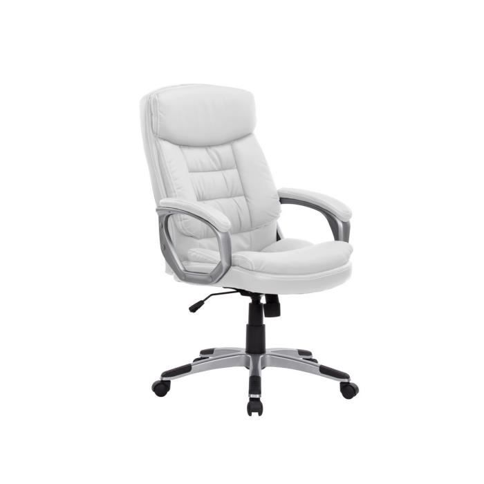 boss fauteuil de bureau m moire de forme blanc achat vente chaise de bureau structure en. Black Bedroom Furniture Sets. Home Design Ideas