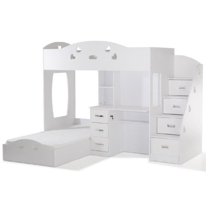 lit combine bureau achat vente lit combine bureau pas cher cdiscount. Black Bedroom Furniture Sets. Home Design Ideas