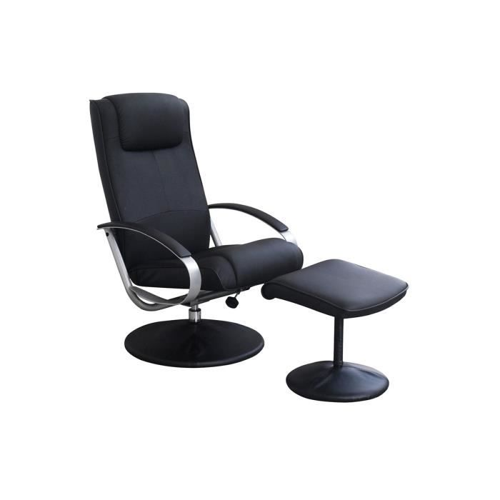 Fauteuil relax pu repose pieds tristan achat vente fauteuil cdiscount - Fauteuil relax discount ...