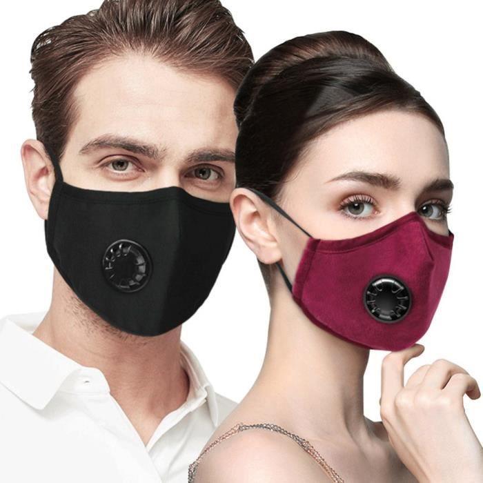 protection anti-UV pour Halloween protection anti-microm/étrique XIAOLUOA Face Cover avec filtre anti-pollution with 2 filters protection de visage r/églable Blanc