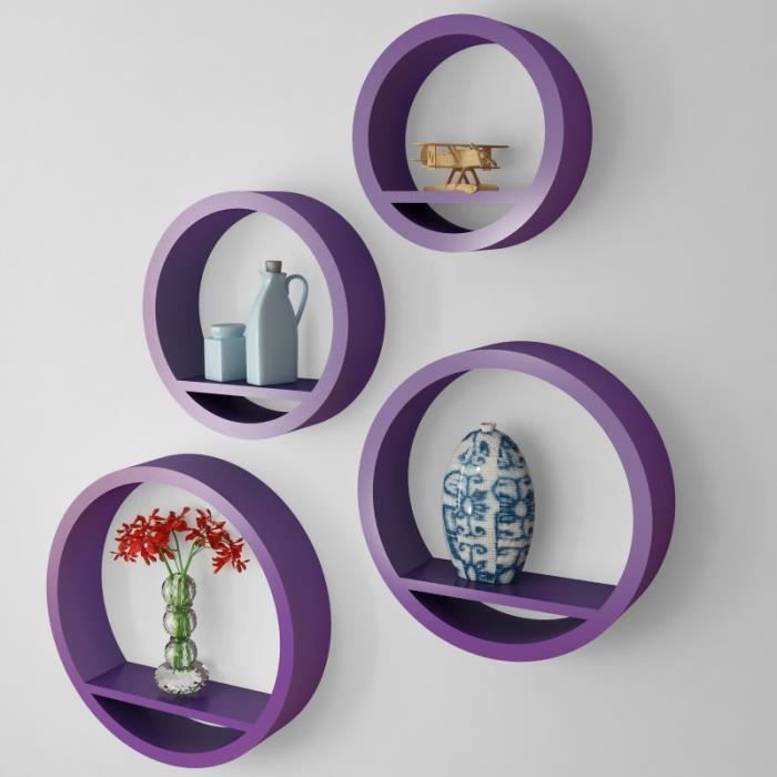 tag re suspendre ronde violet achat vente etag re murale tag re suspendre ronde v. Black Bedroom Furniture Sets. Home Design Ideas