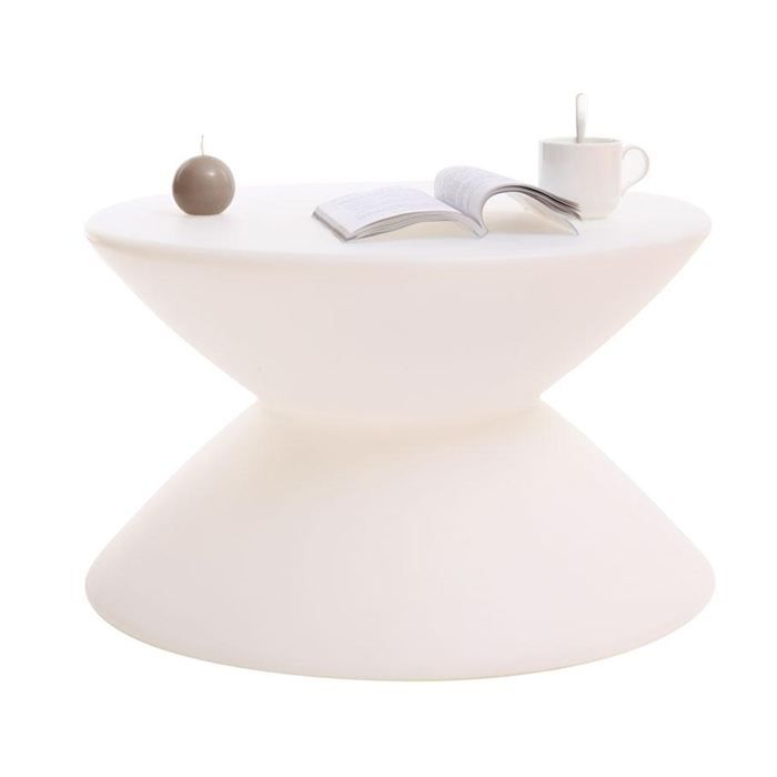 Table basse design blanche ida achat vente table basse table basse design - Table design blanche ...