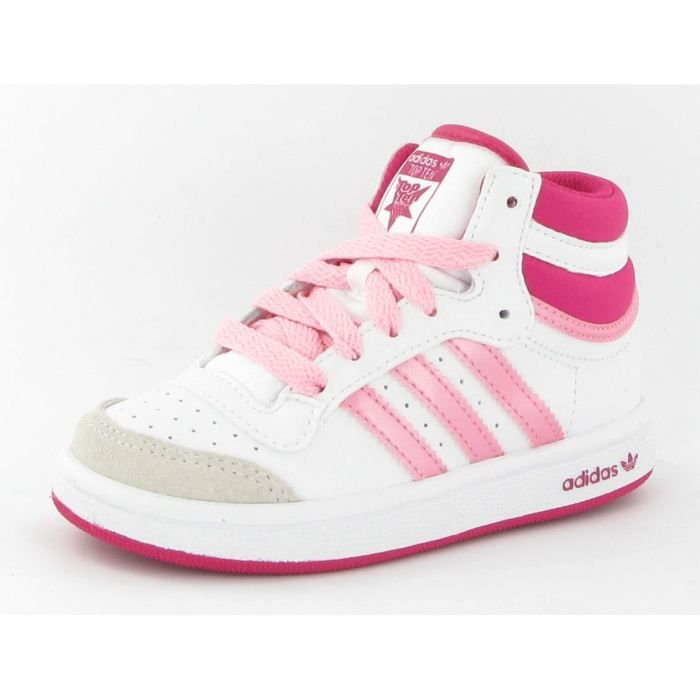 Top Vente Achat Ten Baby Adidas High Chaussures Basket Blanc 5A3jqR4L