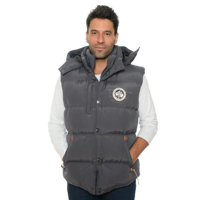 Grise Geographical Norway manches Gris Doudoune sans Veron W9YDHeE2I