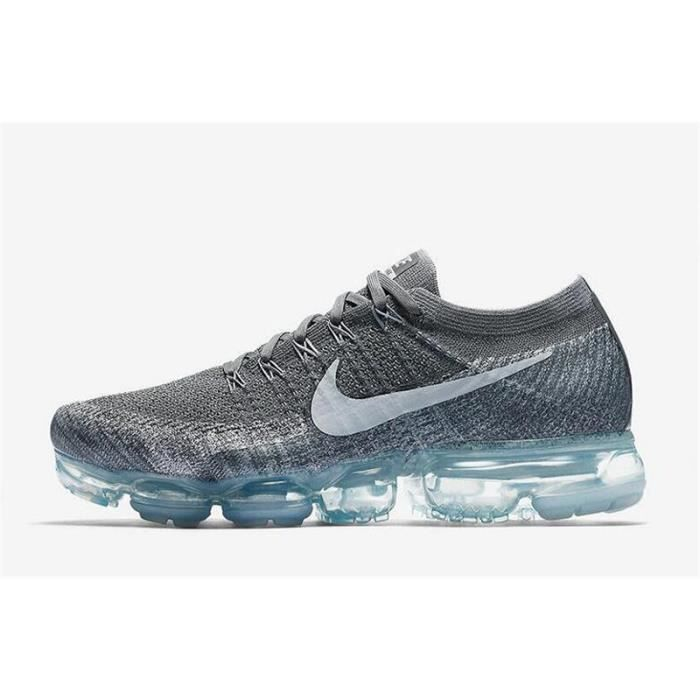 Nike Air VaporMax Flyknit Pour  Chaussure De Running Pour Flyknit Homme Argent 1f54b1