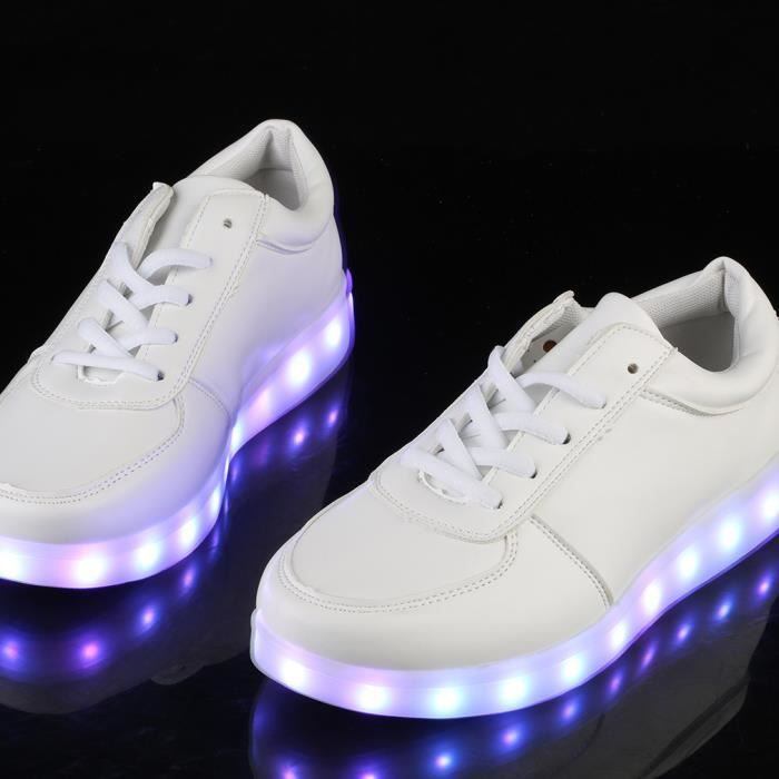 CHAUSSURE DE CURLING  LED Light Up chaussures Sports Sneakers de danse