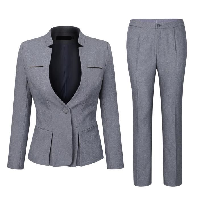 Costume femme 2 pieces Marque d affaires (Vestes + pantalon) slim ... 2801150ae59