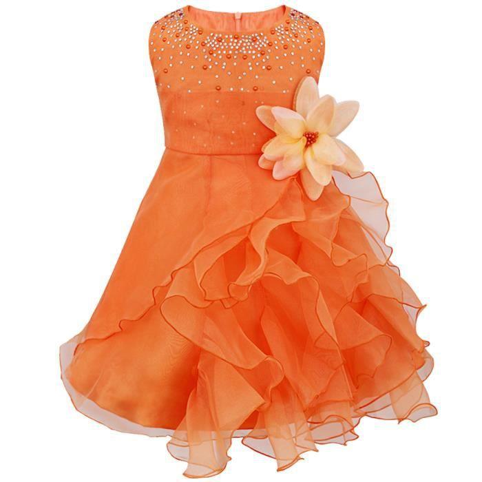 Bébé Fleur Fille princesse Pageant Mariage Anniversaire Baptême Robe Tutu