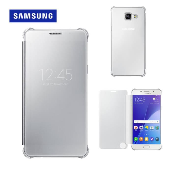 samsung clear view cover a510f galaxy a5 2016 silver. Black Bedroom Furniture Sets. Home Design Ideas