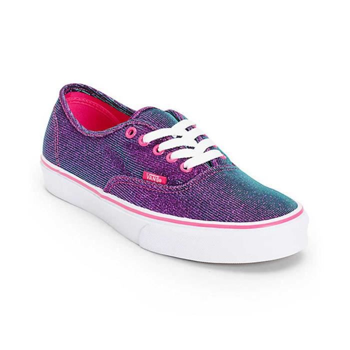 Chaussure Basse Vans Authentic Shimmer Magenta Femme Pointure 36,5