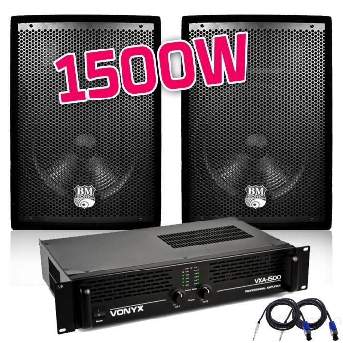 PACK SONO Pack Sonorisation Amplificateur sono PA PRO 1500W