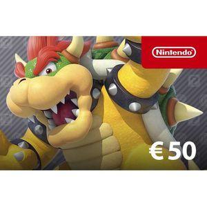 CARTE PRÉPAYÉE Nintendo eShop 50€