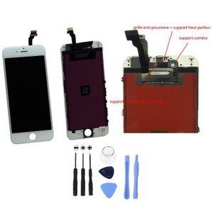ECRAN DE TÉLÉPHONE ECRAN COMPLET LCD + TACTILE IPHONE 6 BLANC + SUPPO