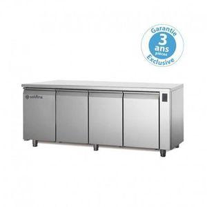 ARMOIRE RÉFRIGÉRÉE Table réfrigérée positive - sans groupe - 4 portes