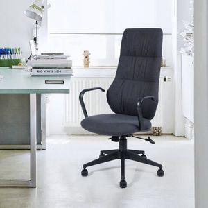 CHAISE DE BUREAU Chaise de bureau, en tissu noir avec un style mode