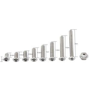 VIS - CACHE-VIS Vis à six pans creux en acier inoxydable M2.5 A2 A
