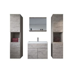 SALLE DE BAIN COMPLETE Meuble de salle de bain Montreal xl 60 cm lavabo R