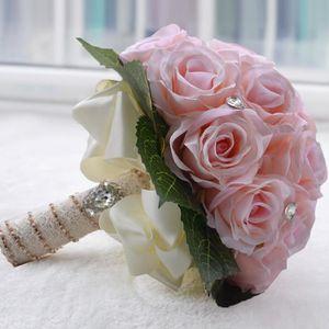 FLEUR ARTIFICIELLE ROSE 27*25cm bouquet de mariage boule de rose arti