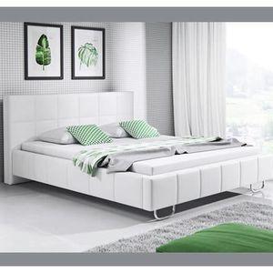 STRUCTURE DE LIT Lit design Sofía – blanc (180x200cm)