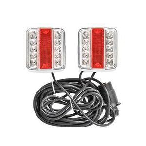 ALLUMAGE AUTO DES FEUX Kit Eclairage LED Remorque Magnetique Aimant 7,5m