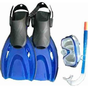 KIT DE RANDO AQUATIQUE AQUATICA Set Palmes Reglables + Masque + Tuba