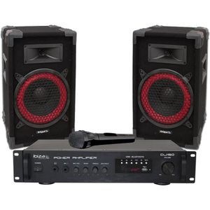 PACK SONO IBIZA DJ150 Kit de sonorisation Home Disco