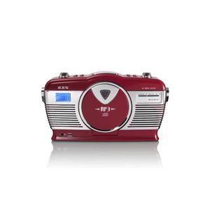 RADIO CD CASSETTE ices ISCD 33 Radio rétro lecteur CD MP3 USB SD