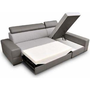 CANAPÉ - SOFA - DIVAN Canapé d'angle convertible CAPRI design tissu simi