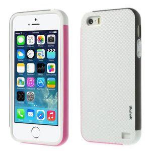 Coque iPhone 5S 5 Bises Fantaisie Protection Anti choc Fun Design (Rose)