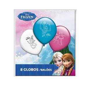 BALLON DÉCORATIF  8 ballons Disney Frozen La Reine des Neiges Elsa A