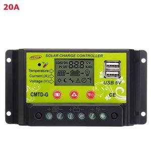 KIT PHOTOVOLTAIQUE TEMPSA 20A PWM Régulateur Contrôleur LCD USB 12-24