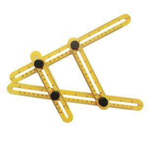 Angleizer modèle outil instrument de mesure Quatre côté-Multi Angle Côté Ruler