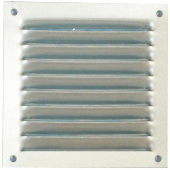 Grille à persienne aération aluminium anodisé sans moustiquaire NEUVE 250 x 250