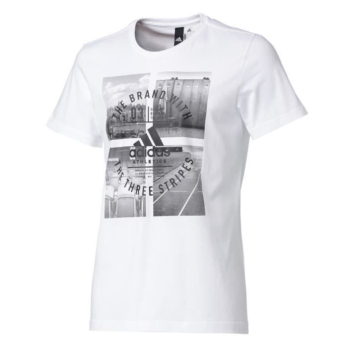 ADIDAS T-shirt Athletic Vibe - Homme - Blanc