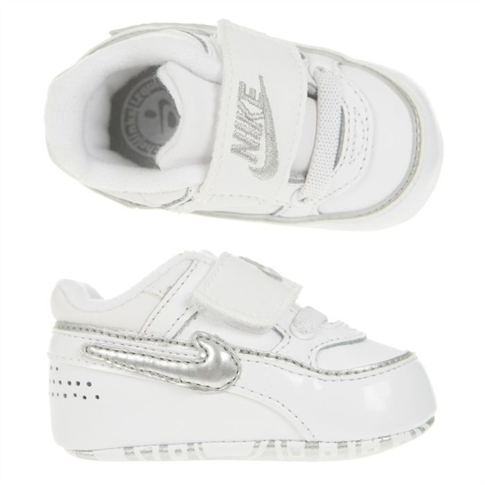 official photos new high quality sneakers for cheap NIKE Chausson First Classic BW Bébé Blanc et argent - Achat ...