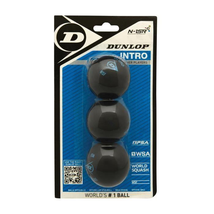 DUNLOP Balles de squash x3 Intro