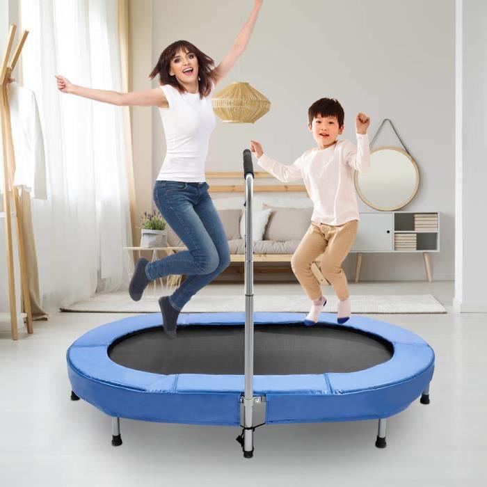 Grand Trampoline fitness -Trampoline adultejuvénile -pour équipement d'exercice aérobie, vert et noir 140*160cm