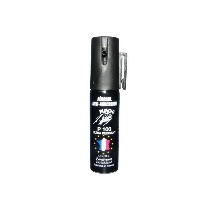 Bombe lacrymogène 25 ml gel anti agression