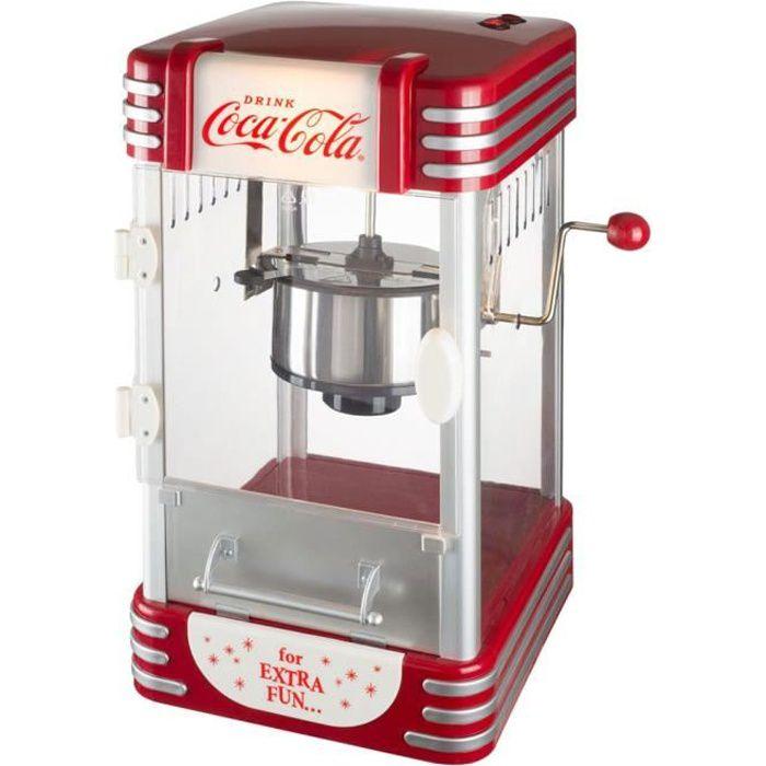 Coca-Cola Coke 38-2C-005 Machine à popcorn lumineuse Pop corn maker Coca-Cola Gris rouge et transparent H50 x 25 x 27 cm