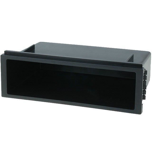 Vide poche 1DIN pour emplacement auto radio ISO - Prof 103mm - ouv 168x49mm