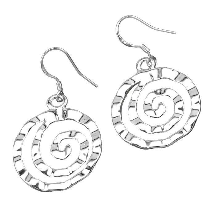 Boucles d'oreilles pendante Argenté argent sterling 925/00 Bijou fantaisie haut de gamme Femme Blanc wz-O0096