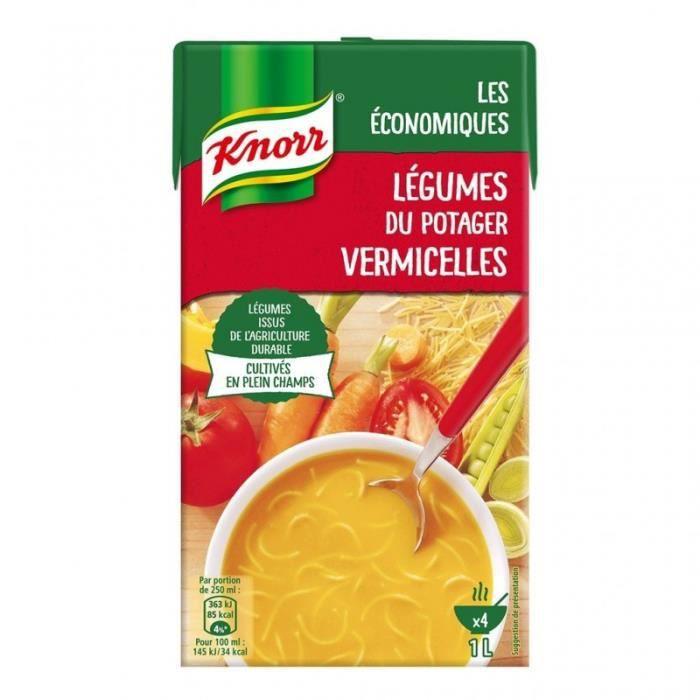 Knorr Les Économiques Légumes du Potager Vermicelles 1L (lot de 4)