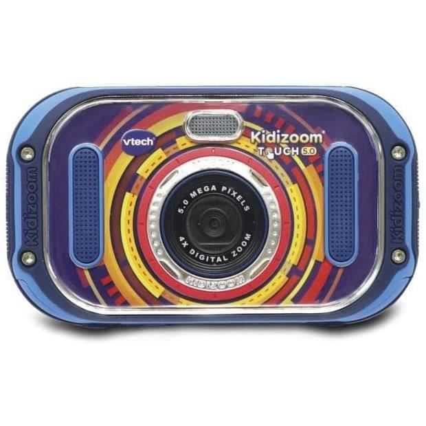 VTech- Kidizoom Touch 5.0 Appareil Photo, 163505, Bleu - Version FR43