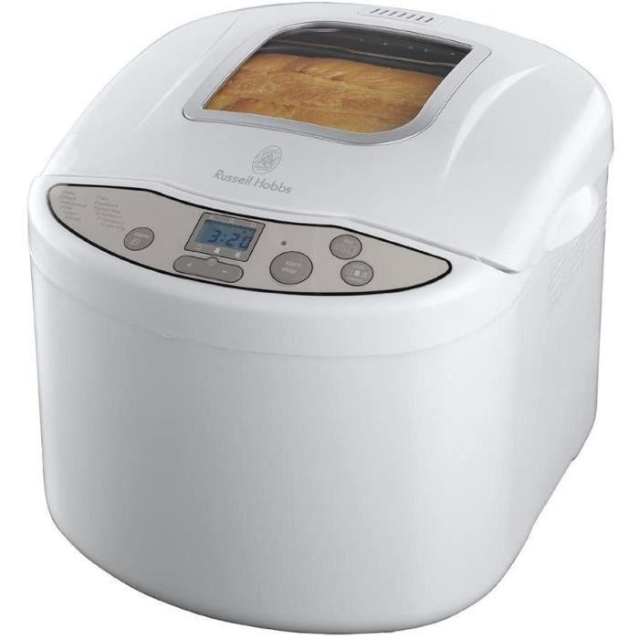 Russell Hobbs Machine à Pain Automatique 660W, 4 Programmes : Pain Classique, Baguette, Pain Complet, Pâte à Pizza - 18036-56