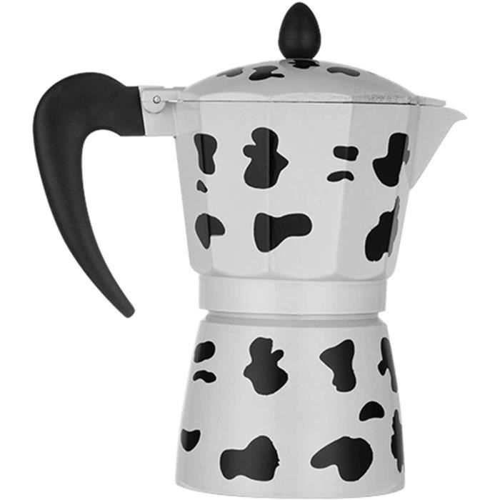 CAFETIERE Djvn Verseuse Cafetiere Universelle 1 Pc Alliage DAluminium Cafetiegravere Imprimeacute Vache Espresso Mocha Latte Per1158