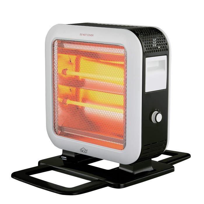 DCG Eltronic sa9889 intérieur noir, blanc 1600 W chauffage soufflant électrique Quartz chauffage soufflant électrique