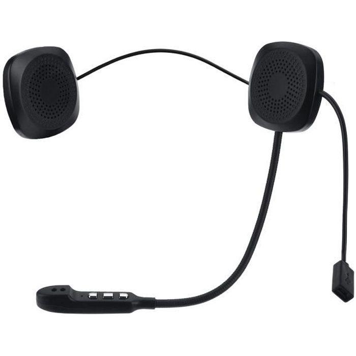 Ecouteur Casque bluetooth Sans Fil Siri Pour Moto Scooter Helmet Kit Mains Libre